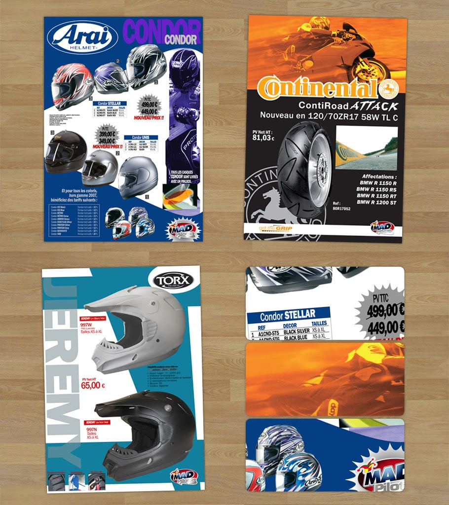 marseille graphiste infographiste webdesigner catalogue mad motos